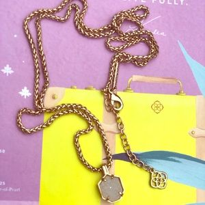 Kendra Scott Rose Gold Iridescent Drusy Oliver